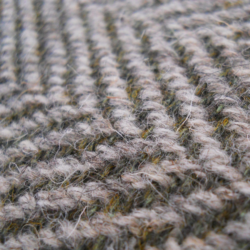 North Ronaldsay wool hand-woven into in herringbone twill. Alison Wootten
